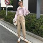 Striped Pullover / Harem Pants