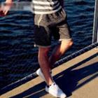 Drawstring Waist Sweat Shorts