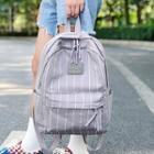Canvas Pinstripe Backpack