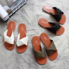Origami Strap Slide Sandals