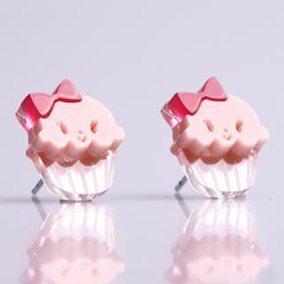 Miss Cupcake Strawberry Stud Silver Earrings