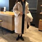 Single-breast Hooded Coat