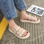 Platform Strap Slide Sandals