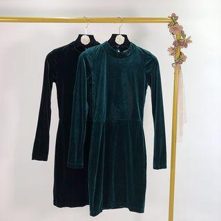 Open Back Long-sleeve Mini Dress