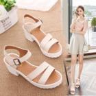 Ankle Strap Block Heel Platform Sandals