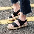Braided Platform Sandals