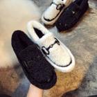 Furry Horsebit Loafers