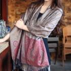 Fringed Patterned Scarf