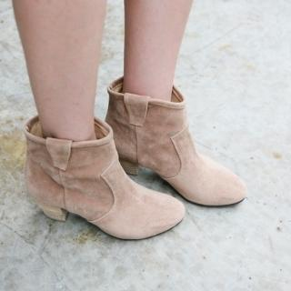 Faux-suede Ankle Boots