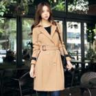 Contrast-trim Trench Coat