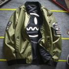 Reversible Zip-up Bomber Jacket