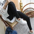 Elastic-waist Plain Skinny Jeans