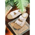 Buckle-strap Espadrille Slide Sandals