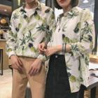 Couple Matching Pineapple Print Shirt
