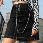 Pencil Skirt With Bead Chain