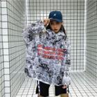 Letter Print Long-sleeve Hooded Jacket