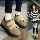Furry Trim Platform Sneakers