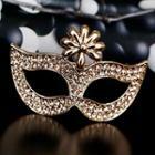 Rhinestone Mask Brooch