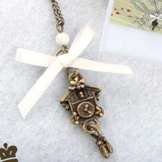 Vintage Bird House Necklace