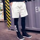 Inset Lettering Leggings Shorts