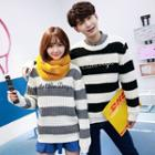 Striped Couple Matching Thick Sweater