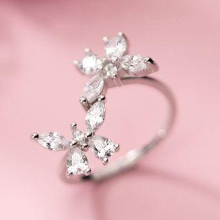 Rhinestone Ring S925 Silver - As Shown In Figure - One Size