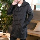 Hooded Frog-buttoned Trench Coat