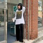 Drawcord-waist Velvet Pants