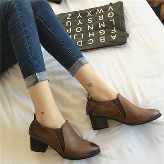 Faux-leather Shoe Boots