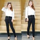 Zip Detailed Skinny Pants