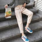 Cropped Straight-fit Pocket-patch Pants