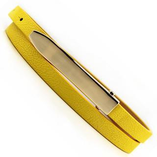 Metal Buckle Slim Belt