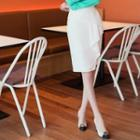 Ruffled Pencil Skirt