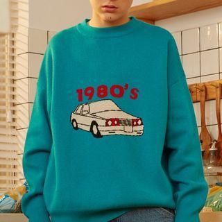 Car Pattern Sweater