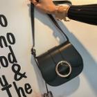 Hoop-buckled Flap Shoulder Bag