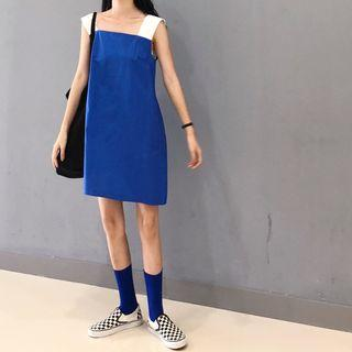Contrast Strap Mini Dress