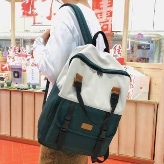 Buckle Strap Nylon Backpack