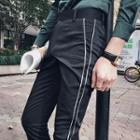 Contrast Trim Dress Pants