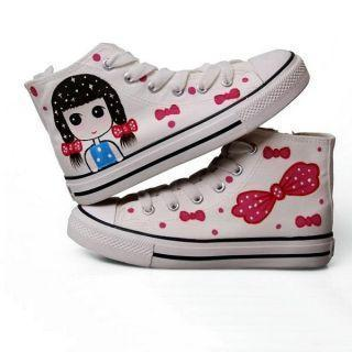High-top Printed Canvas Sneakers