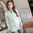 Plain Frilled-trim Blouse