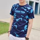 Feather Printed Short-sleeve T-shirt
