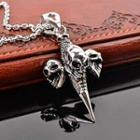 Skull Pattern Dangle Necklace