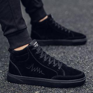 Faux-suede High-top Athletic Sneakers