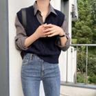 Gingham Shirt / Knit Vest