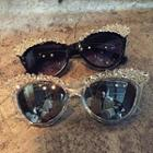 Rhinestone Square Sunglasses