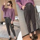 Set: Loose Fit Sweater + Corduroy Pants