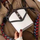 Chain Wide Strap Bucket Bag
