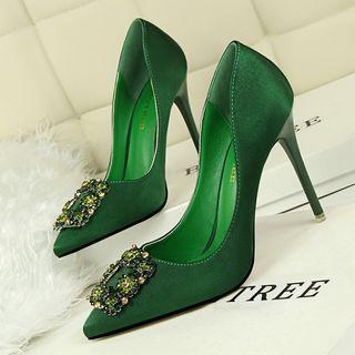 Jeweled Pointy Stilettos