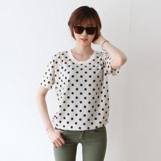 Short-sleeve Polka-dot T-shirt