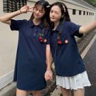 Short-sleeve Cherry Polo Shirt / Polo Dress